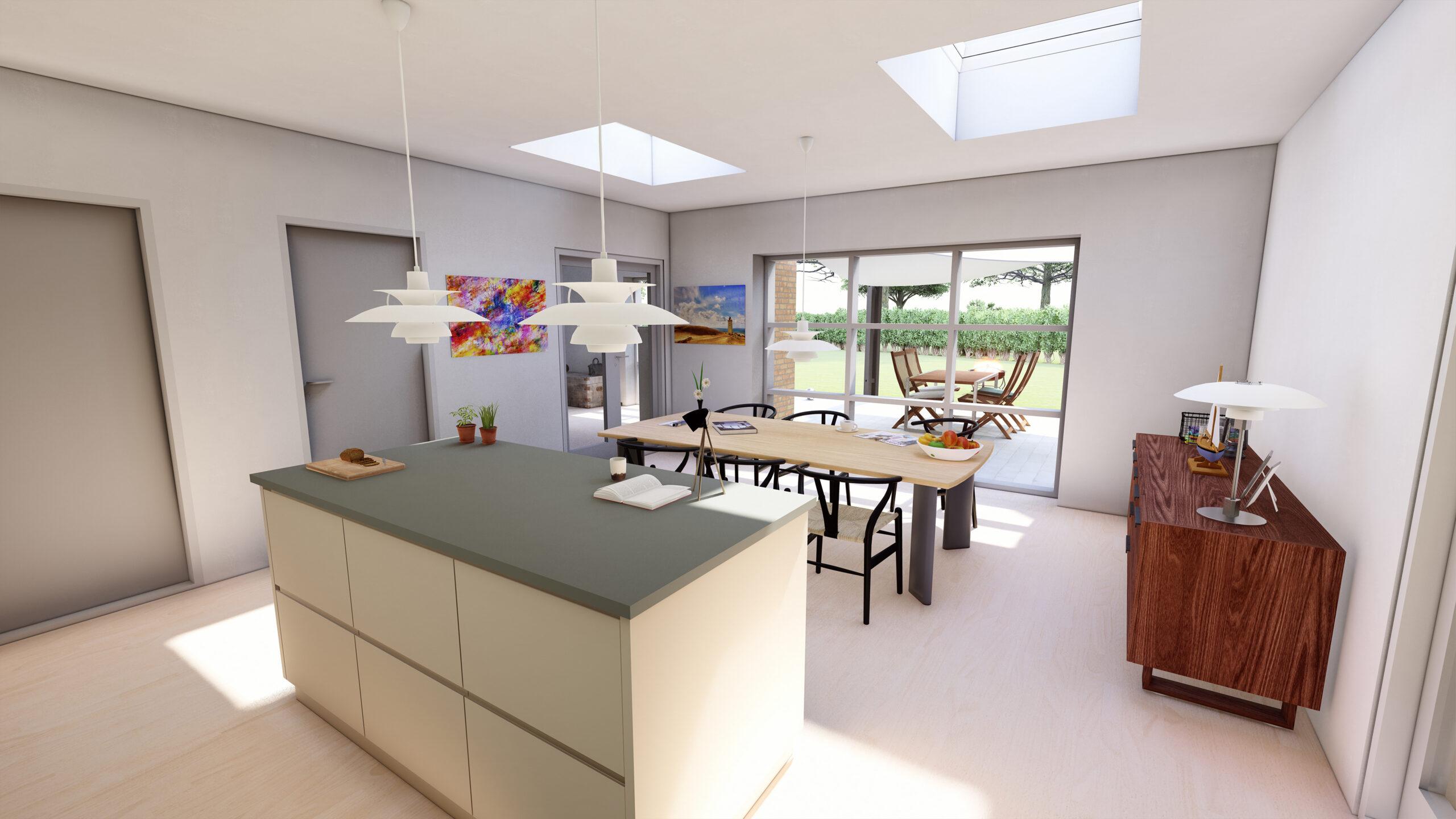 Ptoftdal - H-hus - køkken