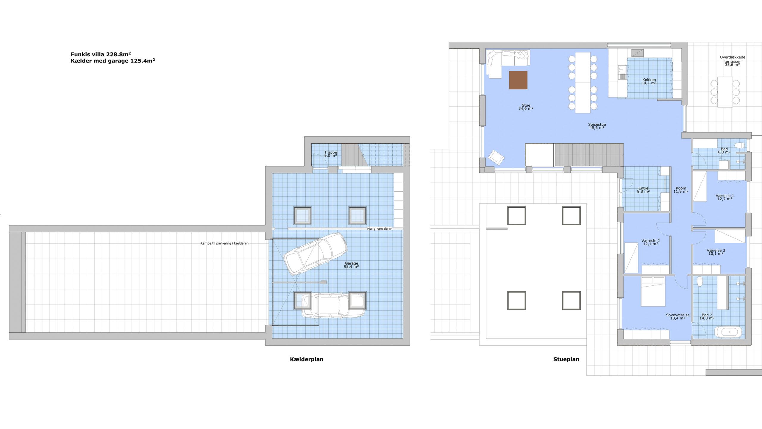 Ptoftdal - Stor hus - plantegning
